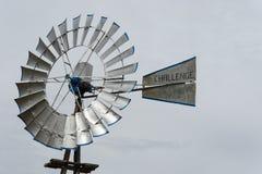 Silberne Windmühle in Lubbock in Texas Lizenzfreie Stockbilder