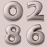 Silberne Zahlen Stockbild