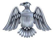 Silberner Amerikaner Eagle Shield Lizenzfreie Stockfotografie