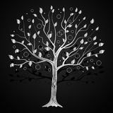 Silberner Baum mit Kreisen lizenzfreie stockfotografie