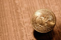 Silberner Dollar Lizenzfreies Stockbild