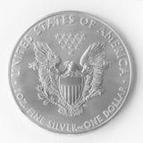 Silberner Dollar stockbild