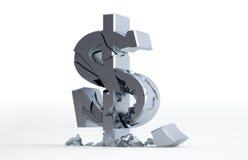 Silberner Dollar-Zeichen lizenzfreie abbildung