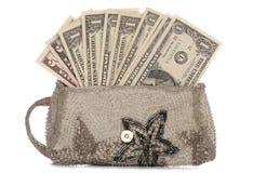 Silberner Fonds mit amerikanischen Dollar Lizenzfreie Stockfotos