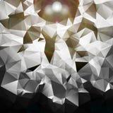 Silberner geometrischer Hintergrund   Lizenzfreie Stockfotos
