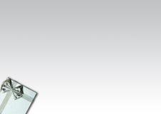 Silberner Geschenk-Kasten Lizenzfreies Stockbild