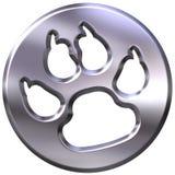 silberner gestalteter Druck des Hund3d Lizenzfreie Stockfotografie