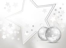 Silberner Grau- und weißes Weihnachtshintergrund Lizenzfreie Stockfotografie