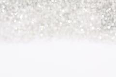 Silberner Hintergrund der weichen Lichter Lizenzfreies Stockbild