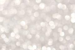 Silberner Hintergrund der weichen Lichter Stockfoto