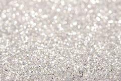Silberner Hintergrund der weichen Lichter Lizenzfreie Stockbilder