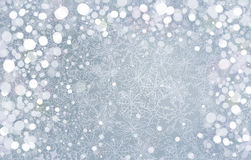Silberner Hintergrund des Vektors für Weihnachtsdesign. Lizenzfreies Stockfoto