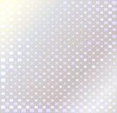 Silberner Hintergrund mit Quadraten Stockfotografie