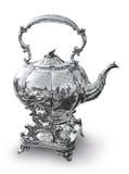 Silberner Kessel für Tee und Kaffee Lizenzfreies Stockfoto