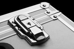Silberner Koffer Stockbild