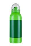 Silberner leerer Spray lokalisiert auf weißem Hintergrund mit dem Abschneiden von PA Stockbild