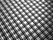 Silberner quadratischer Musteraluminiumhintergrund Stockbilder