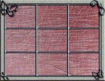 Silberner Rahmen mit Metallschmetterlingen Lizenzfreies Stockfoto