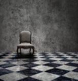 Silberner Raum des Geheimnisses Stockbild