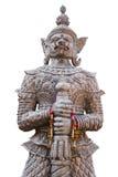 Silberner riesiger Statuen-Tempel in Ubonratchathani Thailand Stockfotografie