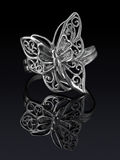 Silberner Ring Lizenzfreies Stockbild