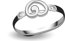 Silberner Ring Lizenzfreie Stockfotografie