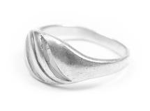 Silberner Ring Lizenzfreie Stockfotos