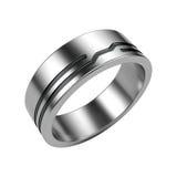 Silberner Ring getrennt auf Weiß Lizenzfreie Stockfotografie