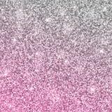 Silberner rosa Funkelnhintergrund Vektor Lizenzfreies Stockbild