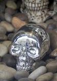 Silberner Schädel lizenzfreies stockbild