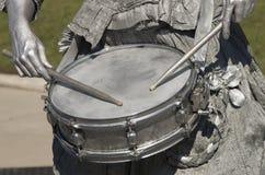 Silberner Schlagzeuger Lizenzfreie Stockfotos