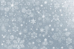 Silberner Schneeflockenhintergrund Stockfotos