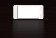 Silberner Smartphone mit leerem Bildschirm Hoch ausführlich vektor abbildung