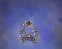 Silberner Soßenserver Stockfoto