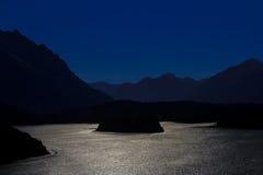 Silberner Sonnenuntergang Stockfotos