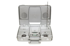 Silberner Stereo-CD-Karaokeradio Lizenzfreie Stockfotos