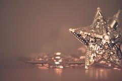 Silberner Stern lights3 Lizenzfreies Stockfoto