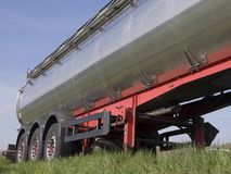 Silberner Tanker Stockfoto