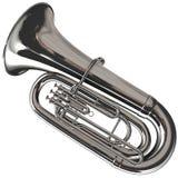 Silberner Tuba Lizenzfreies Stockbild