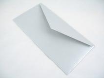 Silberner Umschlag Stockbild