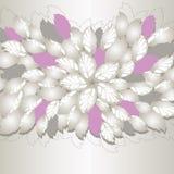 Silberner und rosa Blumen- und BlattBucheinband Stockfotos