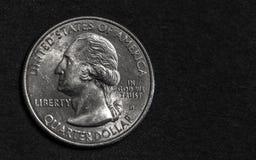 Silberner Vierteldollar Lizenzfreies Stockfoto