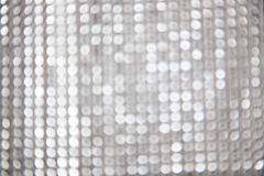 Silberner Weihnachten-bokeh Hintergrund Stockbild