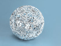 Silberner Weihnachten-filigrane Dekorationsball Stockfoto