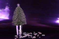 Silberner Weihnachtsbaum Lizenzfreies Stockfoto