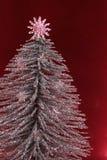 Silberner Weihnachtsbaum Stockbild
