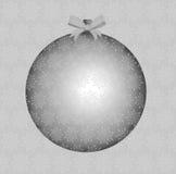 Silberner Weihnachtsflitter Stockfoto