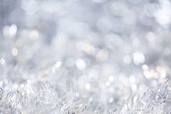 Silberner Weihnachtshintergrund Stockbilder