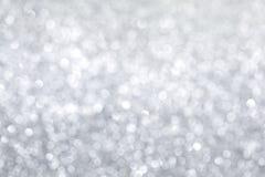 Silberner Weihnachtshintergrund lizenzfreies stockbild