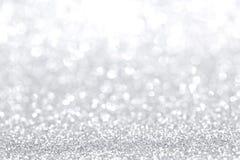 Silberner Weihnachtshintergrund stockbild